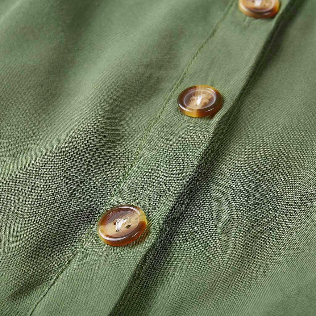 Button casual dress flare  Sleeveless Loose dress women summer nature Party  Long Dress sukienka vestidos#G6