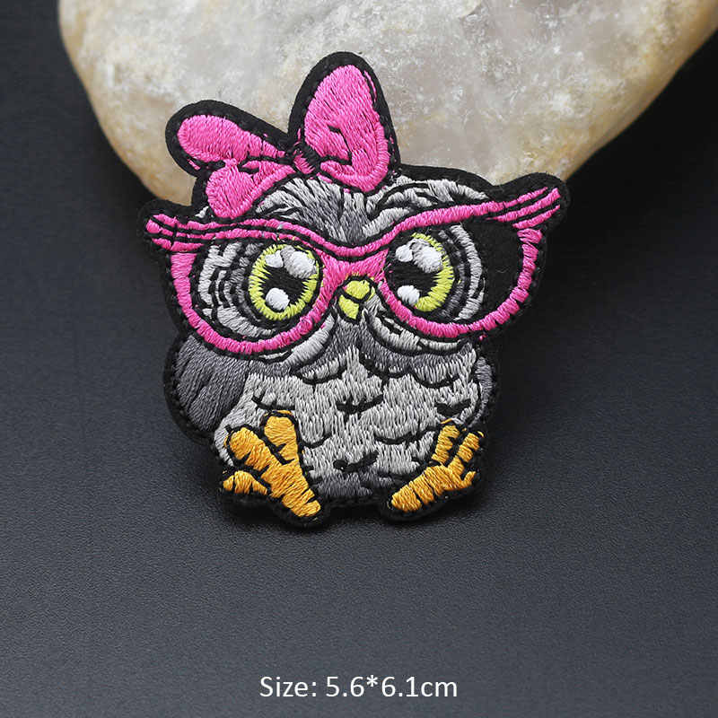 キツネ猫鳥の漫画の動物ためのパッチを刺繍衣類 Diy ストライプアップリケ子供服ステッカーアイアンでパッチバッジ