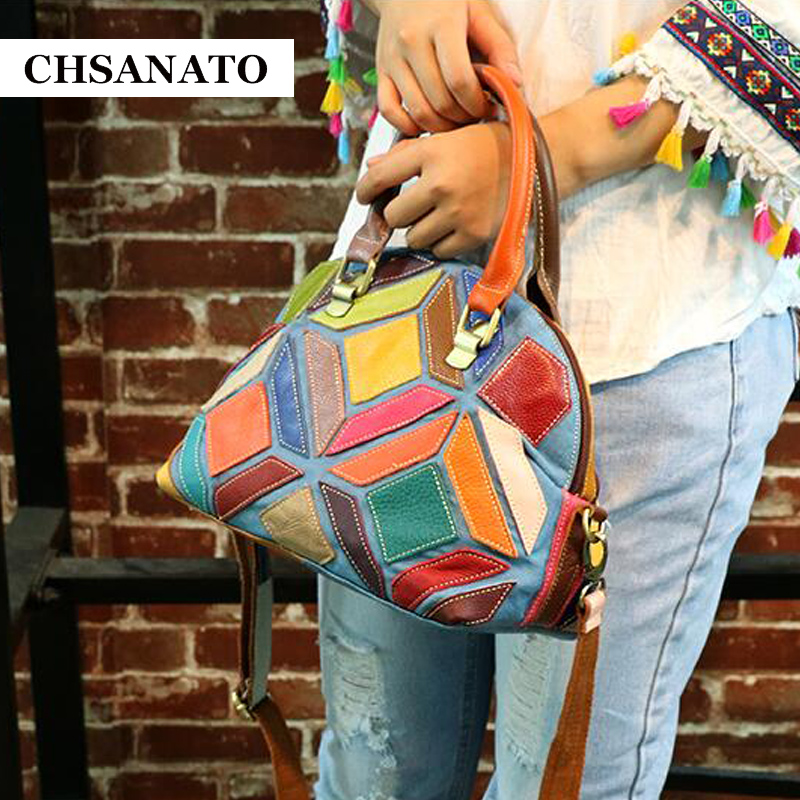 CHSANATO New Shell Bags Small Summer Fashion Women Messenger Bags Genuine Leather Patchwork Designer Handbags High Quality high tech and fashion electric product shell plastic mold