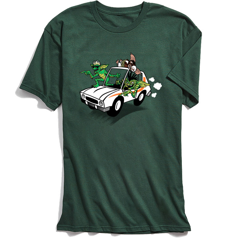 Gremlinz T Shirts for Men Casual April FOOL DAY Tops Shirt Short Sleeve Coupons Party Tops Tees O-Neck 100% Cotton Fabric Gremlinz dark