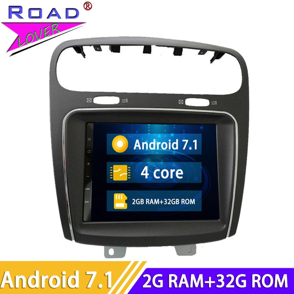 2 Din Android 7.1 Car Radio Unità di Testa Autoradio Player Per Fiat Leap/Freemont/Dodge Journey Stereo di GPS di Navigazione Magnitol video