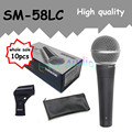 10 шт. оптовая Высокое качество SM 58LC Бесплатная доставка вокальный Караоке микрофон динамический проводной ручной микрофон SM 58