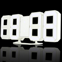3 Brightness Levels Dimmable Nightlight 3D LED Digital Light With Alarm Clocks Function For Home Kitchen Office Portable Lamp