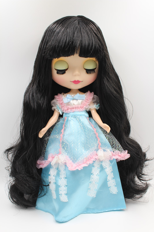 Free Shipping big discount RBL-318M DIY Nude Blyth doll birthday gift for girl 4colour big eye doll with beautiful Hair cute toy free shipping nude blyth doll black4 hair big eye doll for girl s gift pjb004