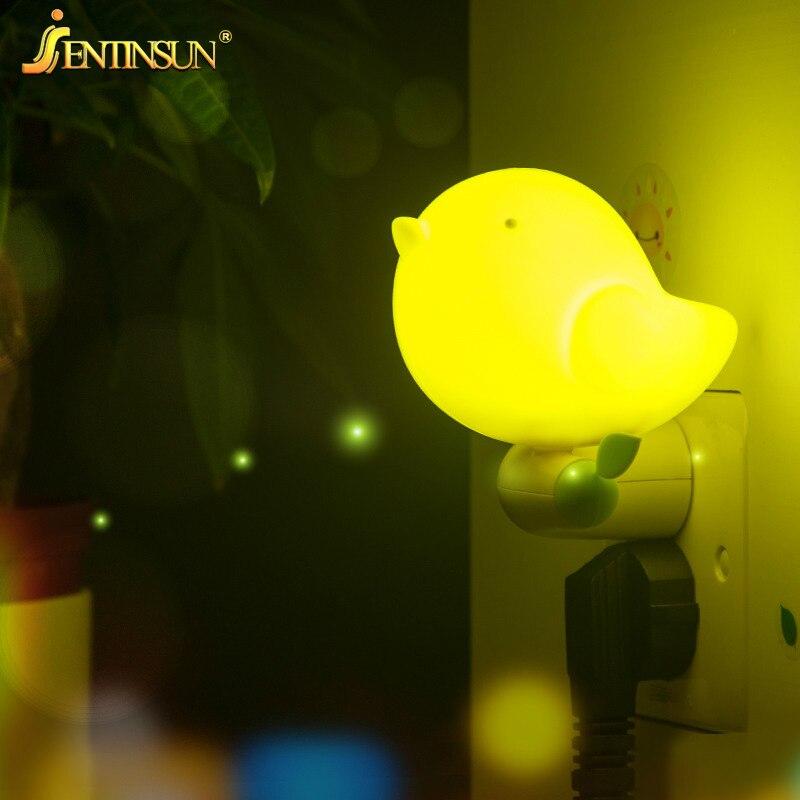 Новое поступление свет Управление Сенсор 3D птица светодиодный светильник настенный Подключите Ночные светильники лампы для Для детей Детс...