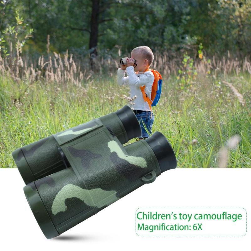 6X35 Children Kids Binocular Telescope Military Games Toys Camouflage Telescope Magnification Toy 6X Glass Lens Telescope Gifts(China)