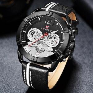 Image 5 - NAVIFORCE Creative montre pour hommes mode sport montres étanche en cuir analogique Quartz montre bracelet hommes horloge Relogio Masculino