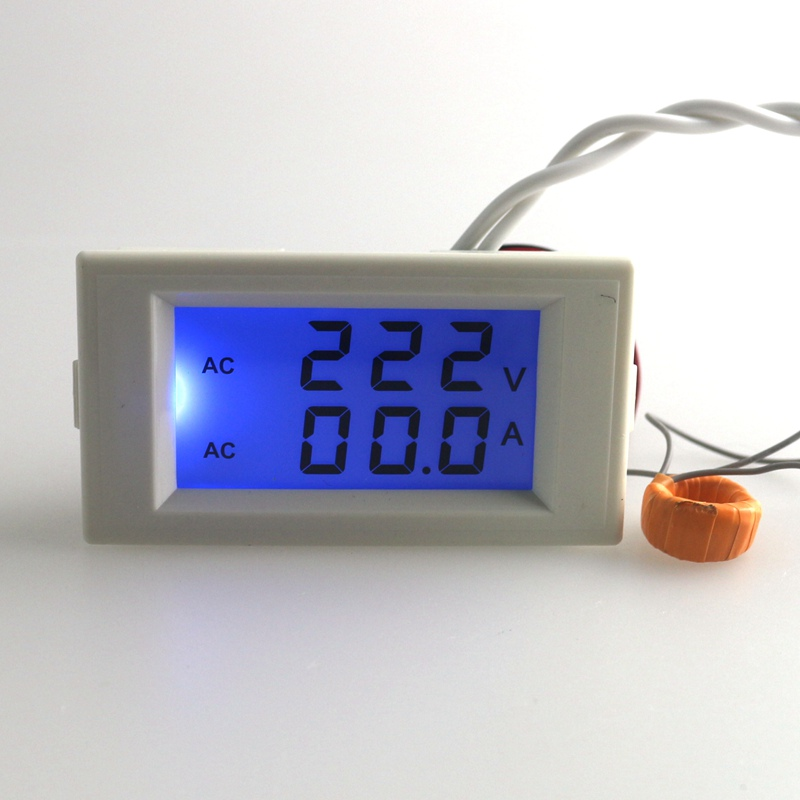 Lcd Panel Meter : Blue lcd digital ac voltmeter ammeter v volt