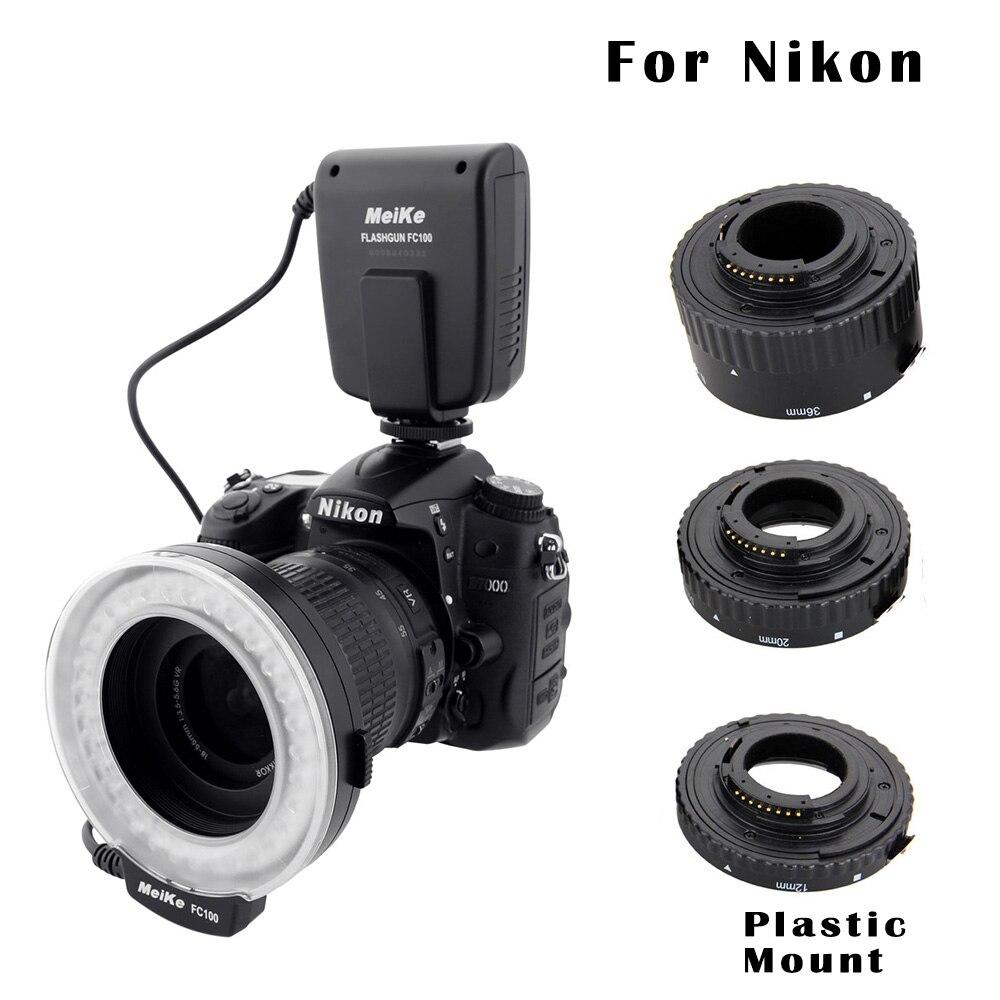Макросъемки Набор для Nikon-FC-100 Macro Ring Flash/Light & удлинитель для Nikon D7100 D7000 D5000 d5100 D5200 D5300 d