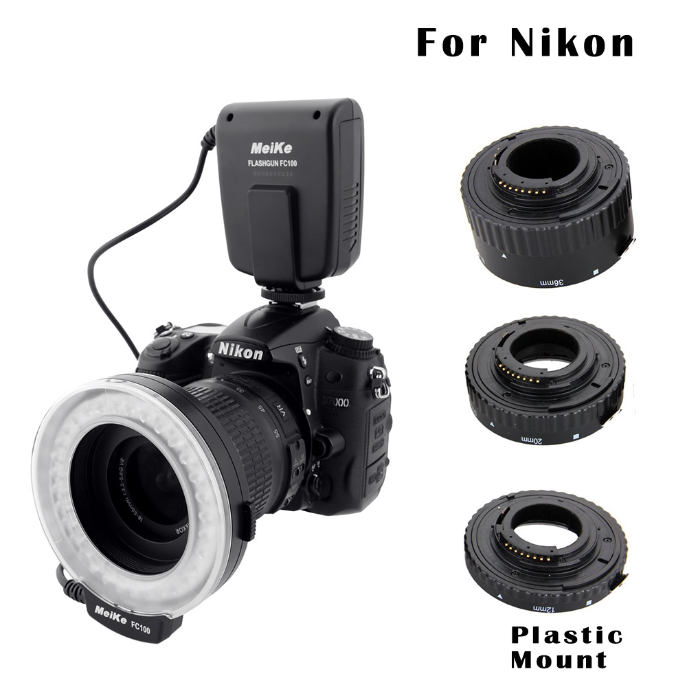 ФОТО Macro Photography Set for Nikon - FC-100 Macro Ring Flash/Light & Extension Tube for Nikon D7100 D7000 D5000 D5100 D5200 D5300 D