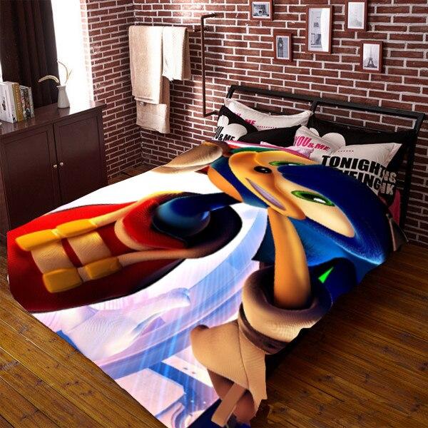 Sonic le hérisson 150*210 CM couverture de couette de dessin animé simple face #40393