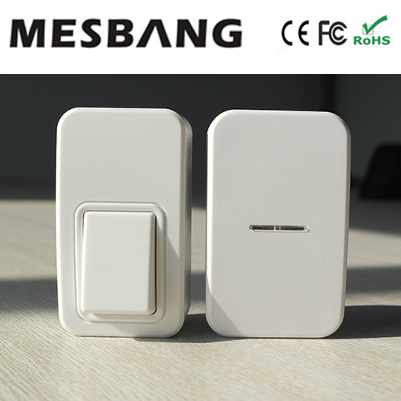 2017 New battery  Wireless Door Bell With EU US AU UK power plug MHZ433 wireless no need cable to install  Free Shipping cacazi wireless cordless doorbell remote door bell chime one button and two receivers no need battery waterproof eu us uk plug