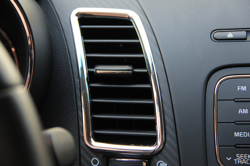 Fit For KIA Fit Forte K3 2014-2015 Central Dashboard Air Vent Outlet Cover Trim