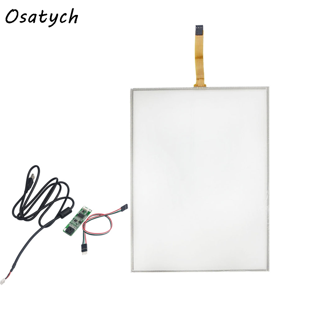 12.1inch Resistive Touch Screen Panel 260.8x203.2mm 4Wire USB kit for 12.1 monitor 17inch resistive touch screen panel 382 2x239 5mm 5wire usb driver board kit for 17 monitor