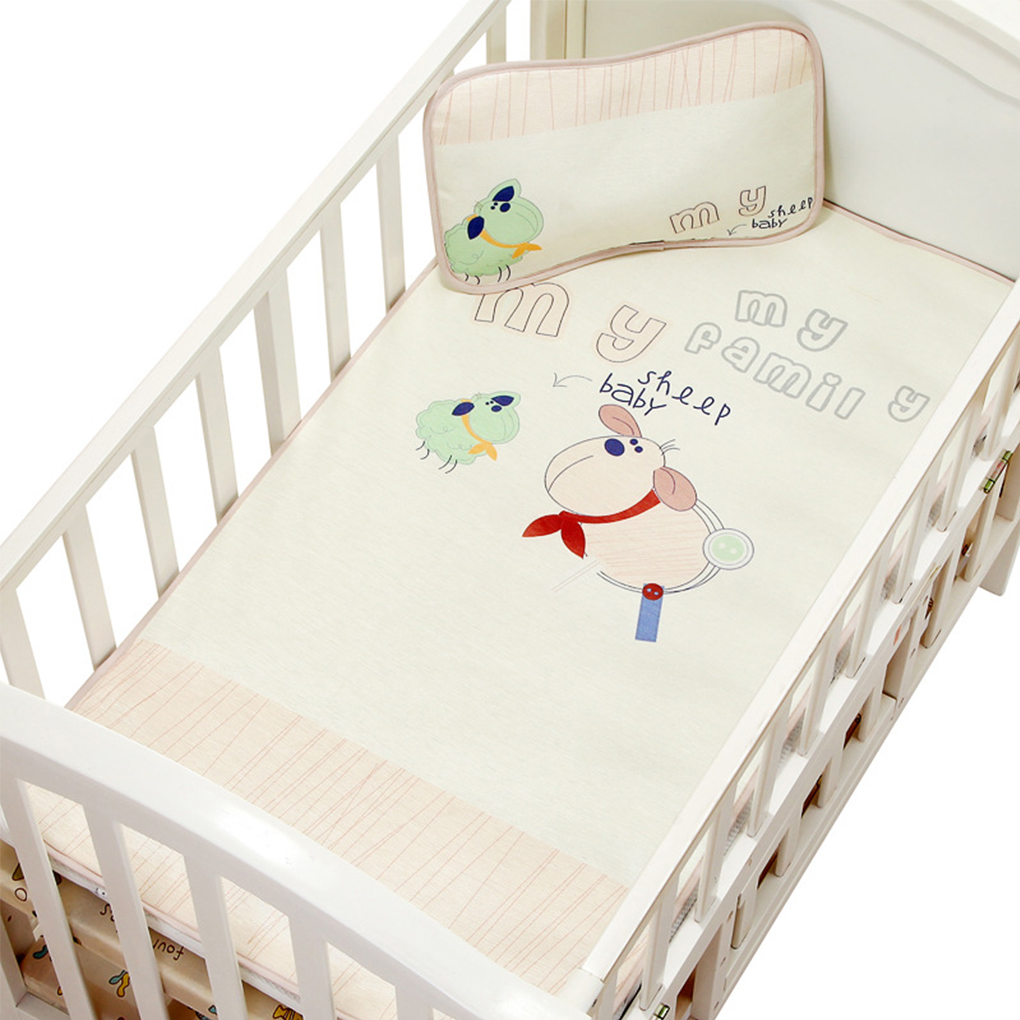 2018 New Breathable Cool Washable Newborn Toddler Bed Under Pad Baby Summer Sleeping Ice Silk Fiber Infant Crib Mat Mattress