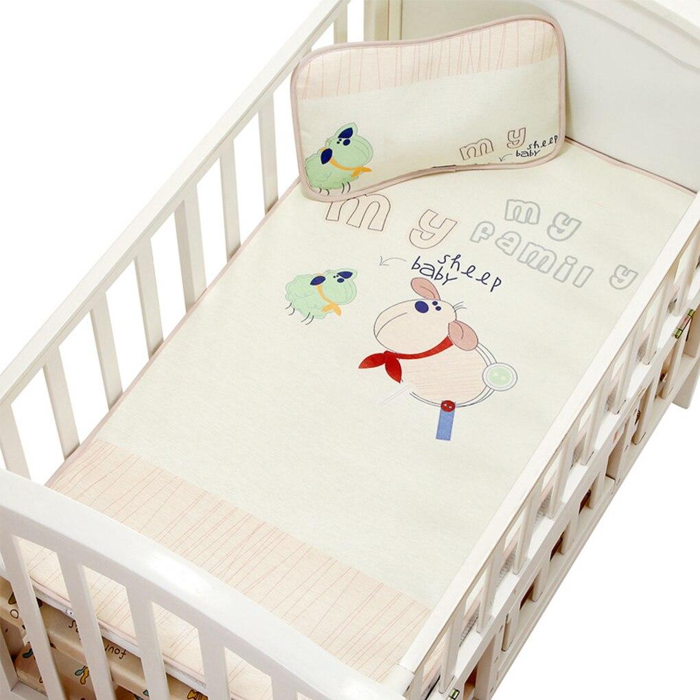 2019 New Breathable Cool Washable Newborn Toddler Bed Under Pad Baby Summer Sleeping Ice Silk Fiber Infant Crib Mat Mattress