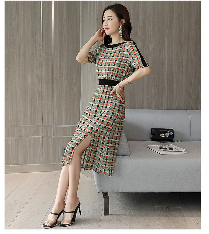 fb420603aba14 US $28.7 20% OFF|2019 Hot selling girls fashion slim printing dresses  women's soft summer beach dinner4 elegant dress school girl casual XL  #A264-in ...