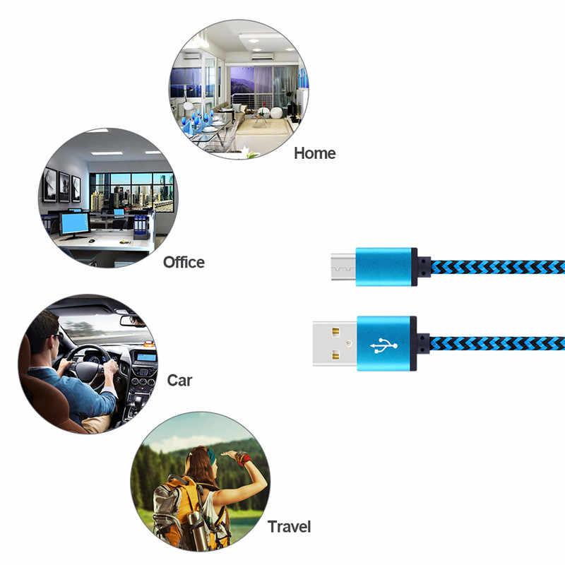 20 センチメートル 1 メートル 2 メートル高速充電ナイロンマイクロ USB ケーブル携帯電話 Xiaomi サムスン華為アダプタ USB 同期データコード