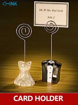 1 set / lot , Wedding dress photo holder novelty message card for wedding as place name