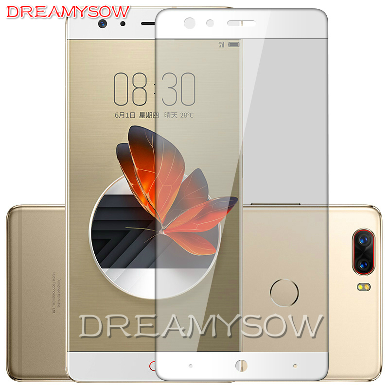 9H 2.5D Colorful Full Cover Tempered Glass Film for ZTE Blade A2 Plus V8 Nubia Z17 Z11 Mini S Z981 M2 Lite Screen Protector