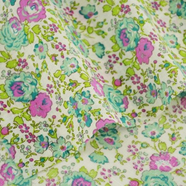 Ropa noticias verde flores preciosas desgins muñeca de tela de algodón de diy de