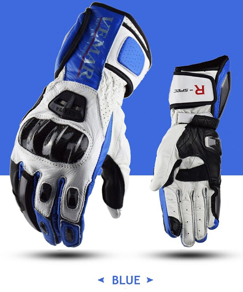 Vemar Winter Moto GP Motorcycle Riding Gloves Leather Racing Motocross Long Glove MTB MX Cross Windproof