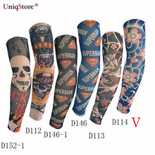 Uniqstore Summer 6Pcs Fashion Tattoo Sleeves Fake Slip On Tattoo Men Women Warmers Cycling Outdoor Ice Sunscreen Arm Sleeves
