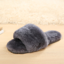 Natural Wool Fur Slippers Fashion Female Winter Slippers Women Warm Indoor Slippers Top Quality Soft Wool Lady Home Shoes 35-41