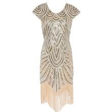 Women's Gatsby Dress 1920s Flapper Dress Women Sequin Handmade Embellished Fringe Dress Dance Gatsby Vintage Party Dress
