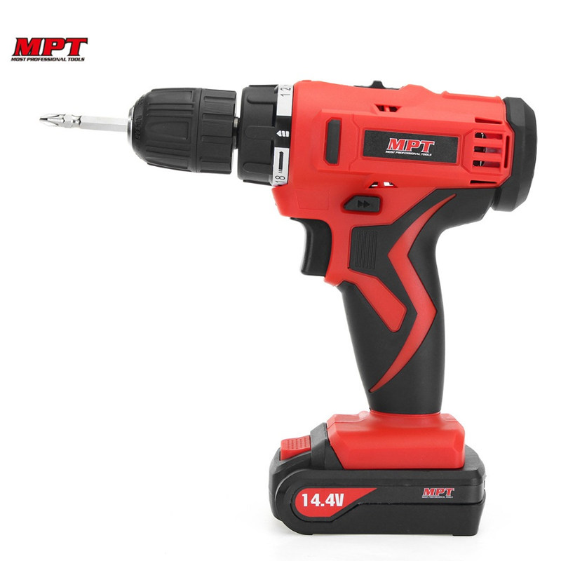 MPT MCDT1423.A2 14.4V DC Electric Drill Driver Mini Cordless Drill Lithium-Ion Battery Screwdriver Drilling Machine Power Tool 18v 4000mah replacement lithium ion battery electric screwdriver li ion battery for bosch power tools electric cordless drill