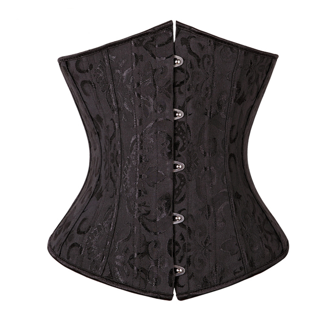 X 28 Spiral Steel Boned Sexy Lingerie Waist Trainer Underwear Underbust Corsets and Bustiers Top Plus Size S-6XL