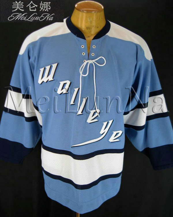 Customize ECHL Toledo Walleye Hockey Jersey Alternate Blue1