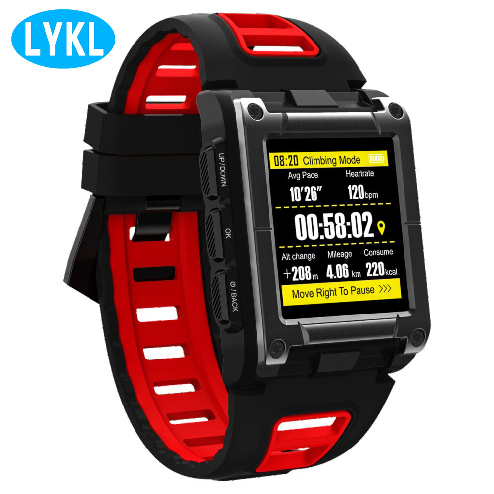 New Men LYKL S929 Sports Watch GPS Compass Waterproof Bluetooth Smart Watch with Heart Rate Tracker Fitness Tracker