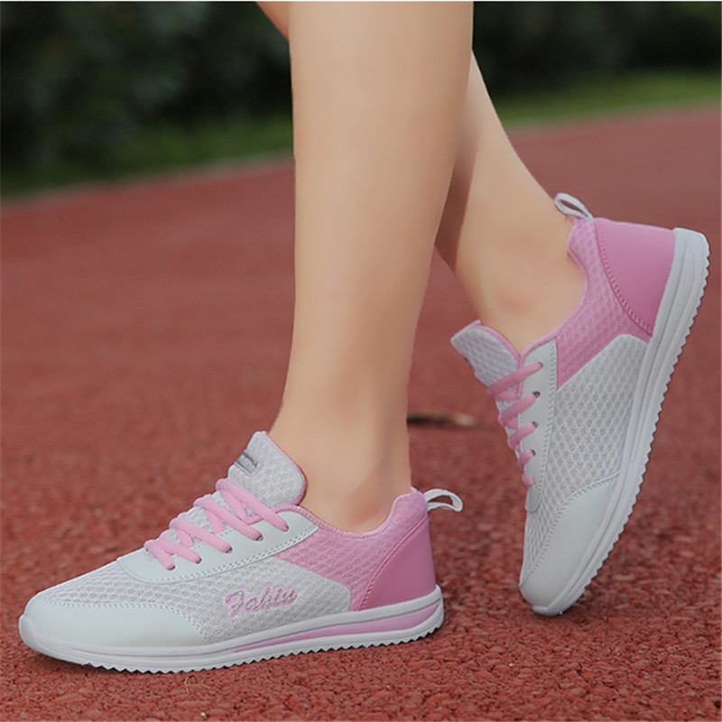 8cbf33339 Women Shoes 2018 Women Sneakers Fashion Women Casual Shoes Breathable  Sneakers Mesh Vulcanis Shoes Zapatos Mujer