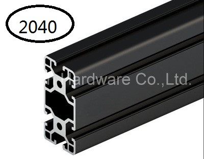 Black Aluminum Profile Aluminum Extrusion Profile 2040 20*40 Commonly Used In Assembling Device Frame, Table And Display Stand