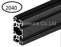 Black Aluminum Profile Aluminum Extrusion Profile 2040 20 40 Commonly Used In Assembling Device Frame Table