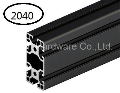Zwart Aluminium Profiel Aluminium Extrusie Profiel 2040 2040