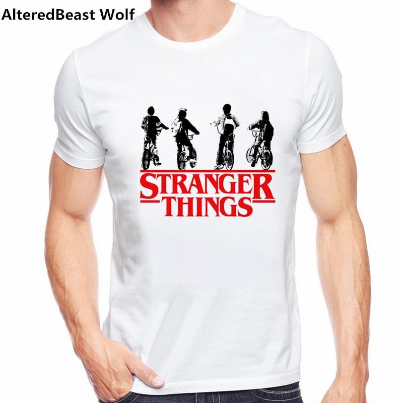 2017 Newest Fashion Stranger Things T Shirt Men Tees Brand font b Clothing b font Funny