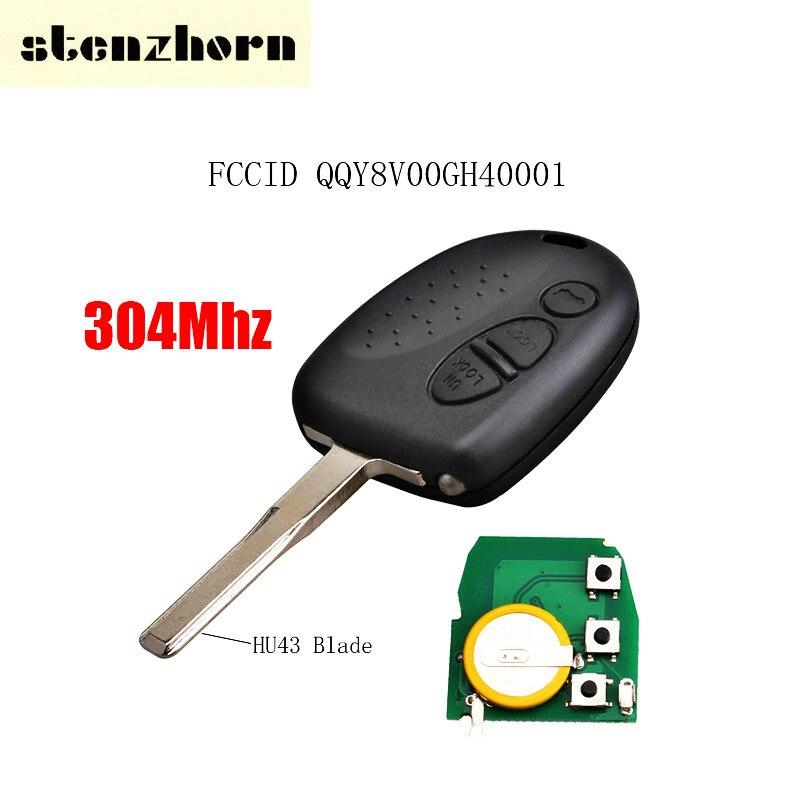 Stenzhorn 3 кнопки дистанционного ключа QQY8V00GH40001 304 мГц для Commodore VS VR VT VX В. Ю. VZ WK WL 2004- pontiac GTO 2006 с HU43 лезвие