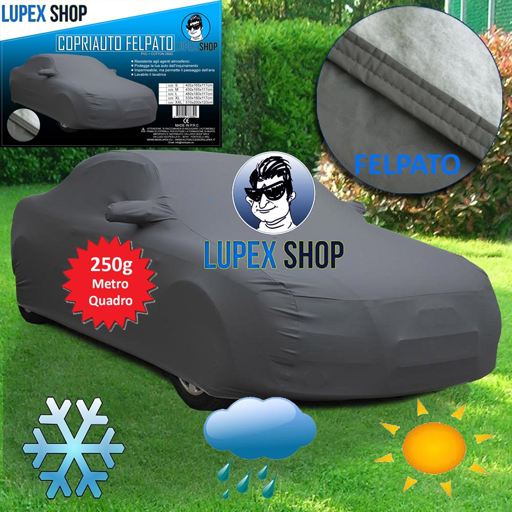CAR COVER PLUSH CAR COVER RAINCOAT WITH BAG 250sqm M: 430x165x117 cm