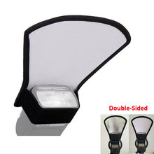 2-in-1 Silver/White Camera Flash Diffuser Double-sided Flash Softbox Ph