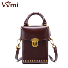 Vvmi 2017 new women handbags chic unique mini rivet box handbag female single shoulder crossbody bags brand designer bags