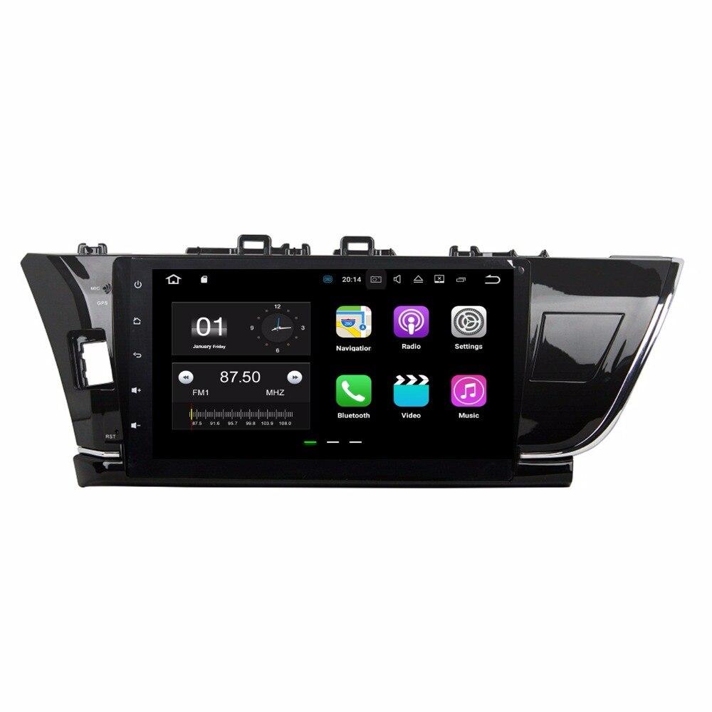 4 ядра 10.1 &#171;Android 7.1 dvd-плеер автомобиля для Toyota Corolla 2014 2015 с 2 ГБ Оперативная память Радио GPS 4 г WI-FI <font><b>Bluetooth</b></font> USB 16 ГБ Встроенная память