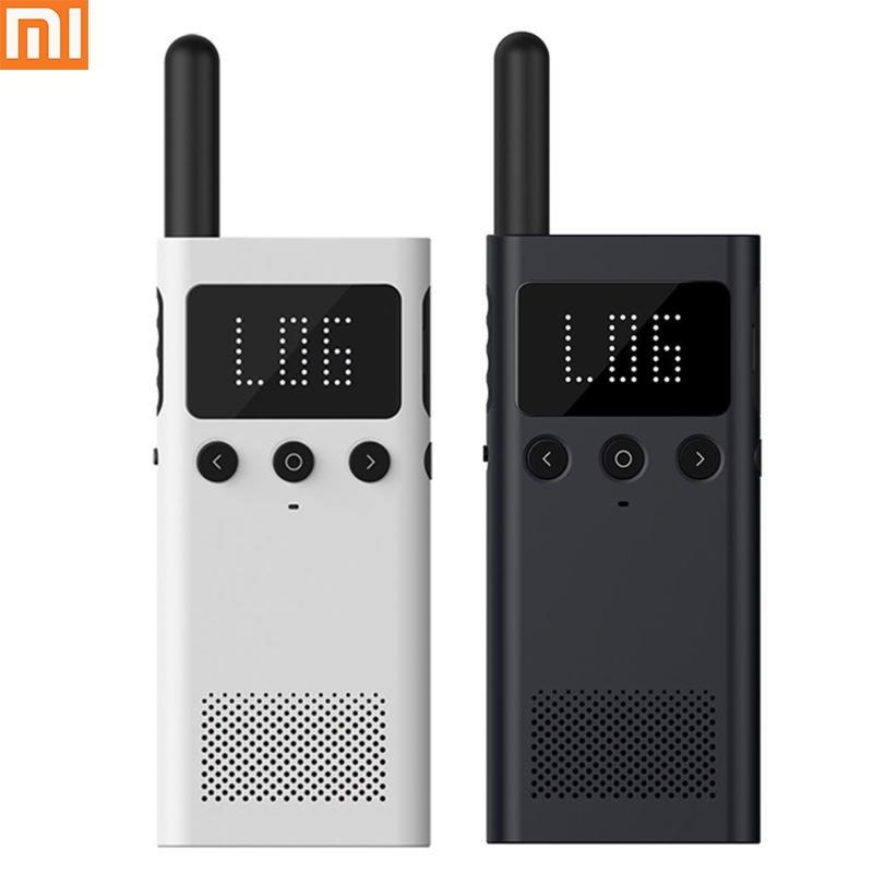 Talkie-walkie intelligent d'origine Xiaomi Mijia avec haut-parleur de Radio FM en veille