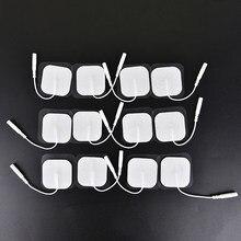10 sztuk żel silikonowy elektrody klocki dla dziesiątki akupunktura maszyna do fizjoterapii Ems nerwowy stymulator mięśni masażer wyszczuplający Patch