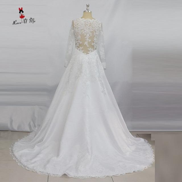 Vintage Long Sleeve Lace Wedding Dresses 2017 Beads Vestido de Noiva ...