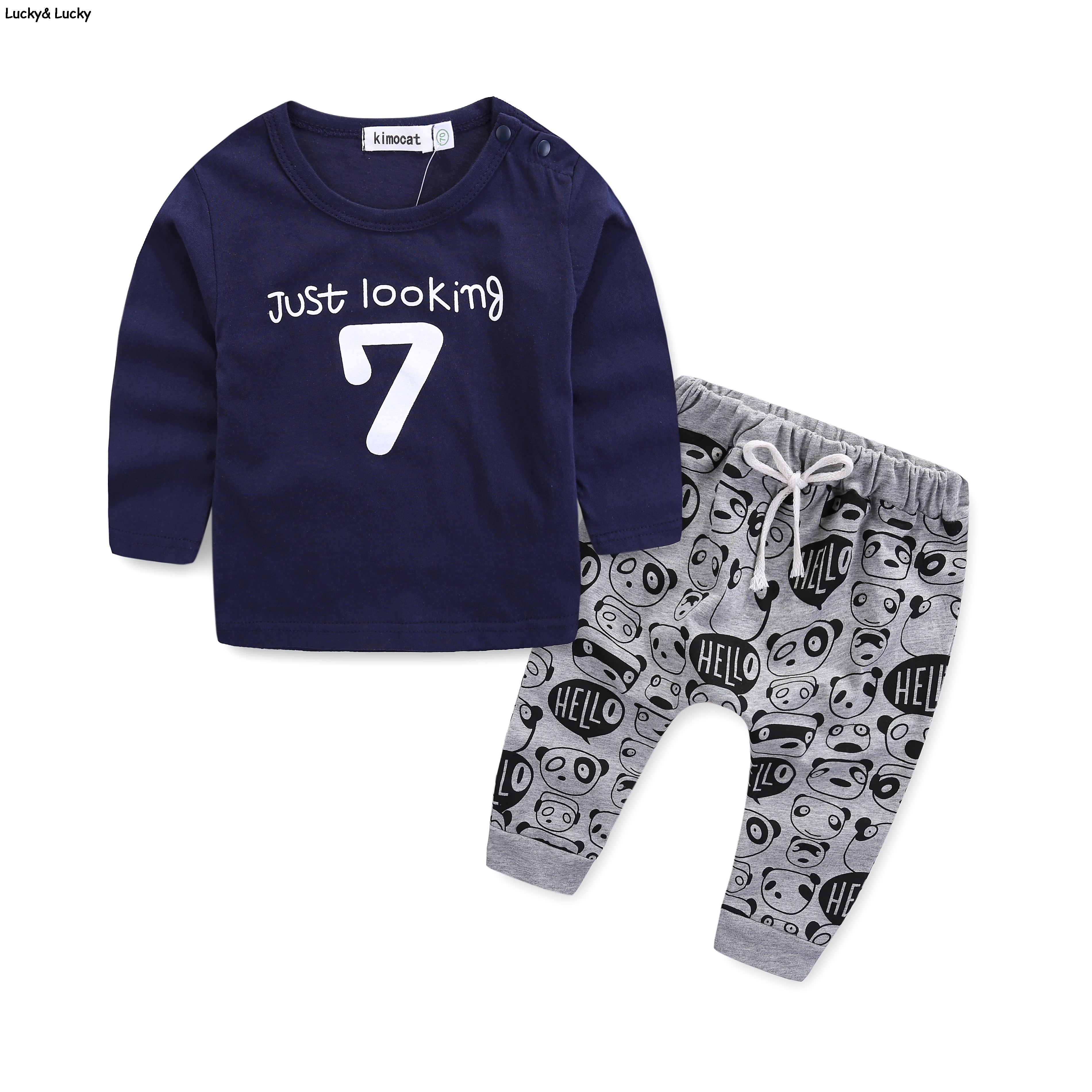 Newborn Clothes Baby Clothing Set Long Sleeve Letter 7