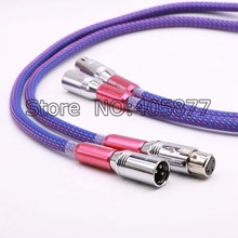 A Pair 1M Silver Plated Audio Balanced Cable HIFI XLR Plug Cable audiophile kable