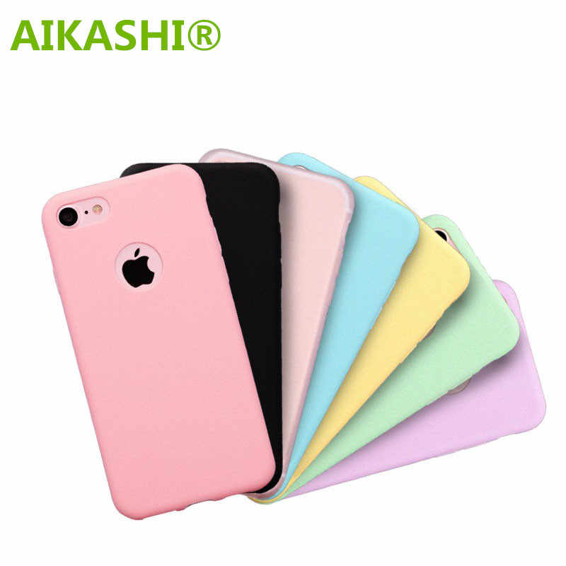 Matte Frosted Candy Color Phone Case For Apple iPhoneX  XS MAX XR 6 6s Plus 7 7 Plus Jelly Soft TPU Silicone Phone Back Cover