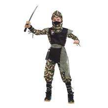 цена Child Arctic Forces Camo Special Ops Ninja Costume Army Soldier Costumes for Boys Halloween Purim Party Carnival Dress Up